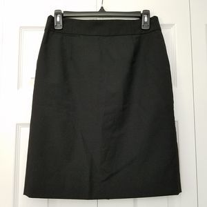 J. Crew Original Fit 100% Wool Pencil Skirt Black